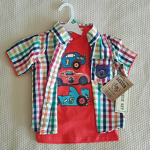 little rebels Other - NWT  Boys Size 3T t-shirt w/ matching button down